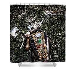 Art In The Weeds Shower Curtain by Melinda Ledsome