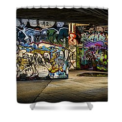 Art Of The Underground Shower Curtain by Heather Applegate