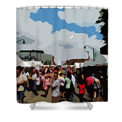 Shower Curtain featuring the photograph Art On The Square - Belleville Illinois by John Freidenberg