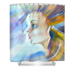 Shower Curtain featuring the painting Artemis by Leanne Seymour
