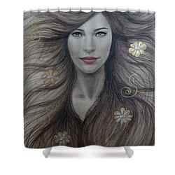 Artemis Shower Curtain by Lynet McDonald