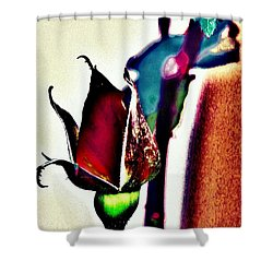 Shower Curtain featuring the photograph Artful Bud by Faith Williams