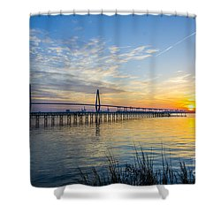 Calm Waters Over Charleston Sc Shower Curtain by Dale Powell