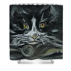 Shower Curtain featuring the pastel Arthur  by Teresa White