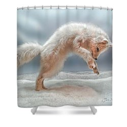 Artic White Wolf Shower Curtain