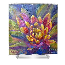 Shower Curtain featuring the painting Artichoke Leaves by Phyllis Howard