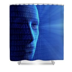 Artificial Intelligence Shower Curtain by Johan Swanepoel