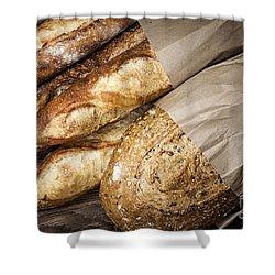 Artisan Bread Shower Curtain by Elena Elisseeva