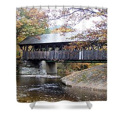 Artist Covered Bridge Shower Curtain by Catherine Gagne