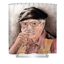 Artist In Solitary Thought Shower Curtain
