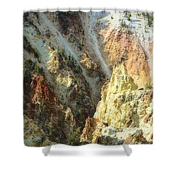 Artist Palette Of Yellowstone Shower Curtain by Kathleen Struckle