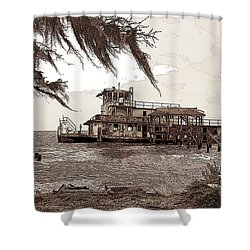 Tugboat From Louisiana Katrina Shower Curtain