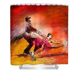 Artistic Roller Skating 02 Shower Curtain