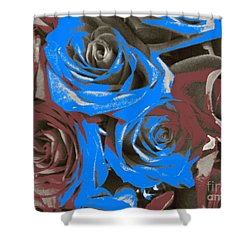 Shower Curtain featuring the photograph Artistic Roses On Your Wall by Joseph Baril