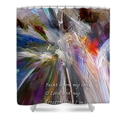 Artist's Prayer Shower Curtain