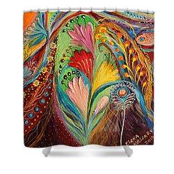 Artwork Fragment 64 Shower Curtain by Elena Kotliarker