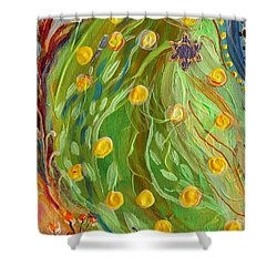 Artwork Fragment 81 Shower Curtain by Elena Kotliarker
