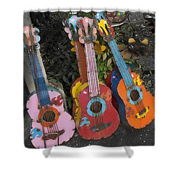 Arty Yard Guitars Shower Curtain