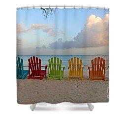 Aruba Sunrise 0746a Shower Curtain