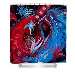 As A Beating Heart Shower Curtain