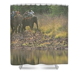 As Close As It Gets Shower Curtain by Fotosas Photography
