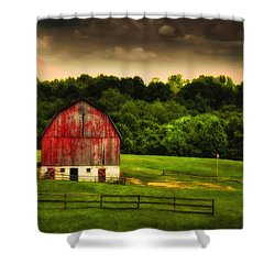 As Darkness Falls Shower Curtain by Lois Bryan