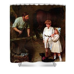 As Good As Ever Shower Curtain by Arthur John Elsley