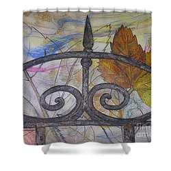 Shower Curtain featuring the mixed media As It Comes 2 by Malinda  Prudhomme