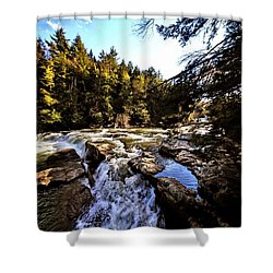 As Lawrence Welk Used To Say-ah Waterfall Waterfall Shower Curtain