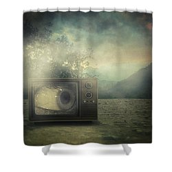 As Seen On Tv Shower Curtain by Taylan Apukovska