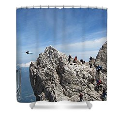 Shower Curtain featuring the photograph As The Crow Flies 1 by Pema Hou