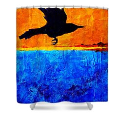 As The Crow Flies Shower Curtain by Nancy Merkle