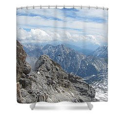 Shower Curtain featuring the photograph As The Crow Flies by Pema Hou