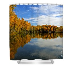 As The Leaves Turn Shower Curtain by Bob Hislop