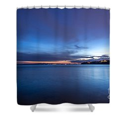 As The Night Sets In - By Sabine Edrissi Shower Curtain