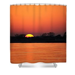 As The Sun Goes Down  Shower Curtain by Karol Livote