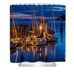 As The Sun Sets - By Sabine Edrissi Shower Curtain