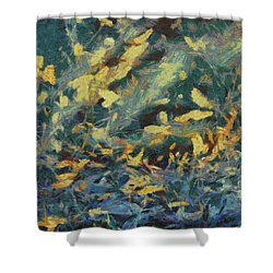 Shower Curtain featuring the painting As The Wind Blows by Joe Misrasi