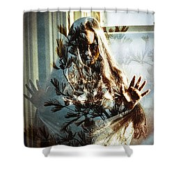 As The World Falls Down Shower Curtain