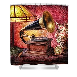 As Time Goes By Shower Curtain by Mo T