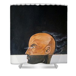 Shower Curtain featuring the painting As Vapor Gutural by Lazaro Hurtado