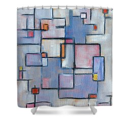 Asbtract Line Series Shower Curtain