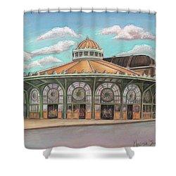 Asbury Park Carousel House Shower Curtain