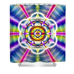 Shower Curtain featuring the drawing Ascending Eye Of Spirit by Derek Gedney