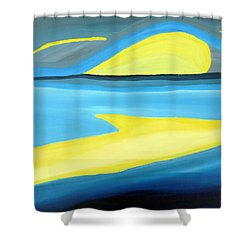 Ascending Light Into The New Dawn Of Time Shower Curtain by Daina White
