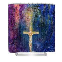 Ascension Shower Curtain by Laila Shawa