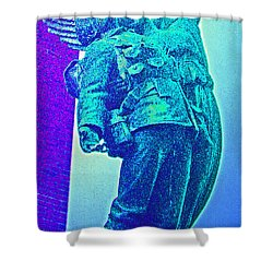 Ascent Of The Hero Shower Curtain by First Star Art