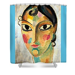 Ascona Head 10 Shower Curtain by Pg Reproductions