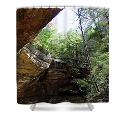 Ash Cave Of The Hocking Hills Shower Curtain