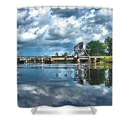 Ashepoo Train Trestle Shower Curtain